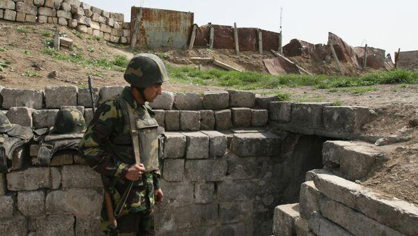 Karabaški vojnici u zoni sukoba u Nagorno-Karabahu - Sputnik Srbija