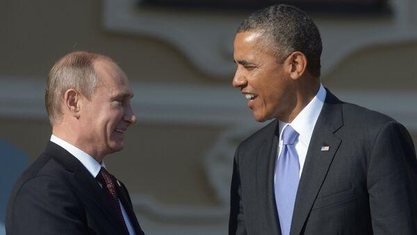 Председник Русије Владимир Путин и председник САД Барак Обама - Sputnik Србија
