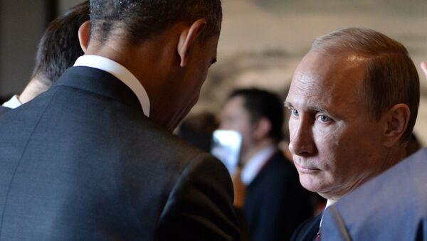 Predsednik Rusije Vladimir Putin (D) i predsednik SAD Barak Obama - Sputnik Srbija