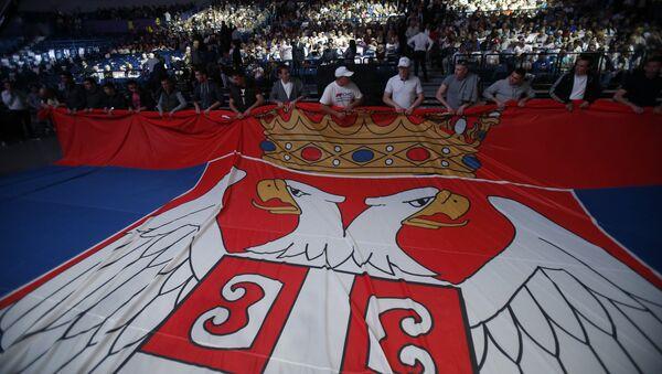 Skup pristalica SNS-a  u Kombank areni - Sputnik Srbija