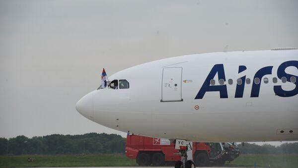Ербас A330 Ер Србије на аеродрому Никола Тесла - Sputnik Србија