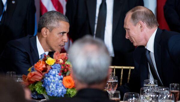 Амерички председник Барак Обама и руски председник председник Владимир Путин - Sputnik Србија