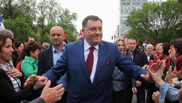 Милорад Додик на митингу у Бањалуци, 14. маја 2016 - Sputnik Србија