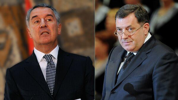 Milorad Dodik i Milo Đikanović - Sputnik Srbija