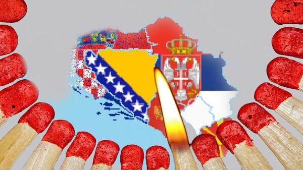 Balkan, bure baruta - ilustracija - Sputnik Srbija