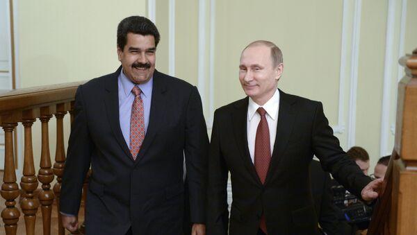 Predsednik Rusije Vladimir Putin i predsednik Venecuele Nikolas Maduro - Sputnik Srbija