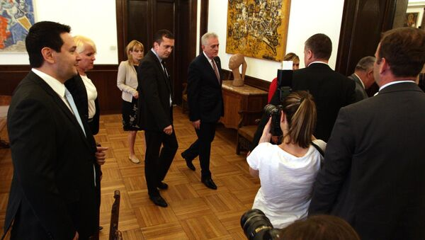 Nemanja Šarović na konsultacijama kod predsednika Srbije - Sputnik Srbija
