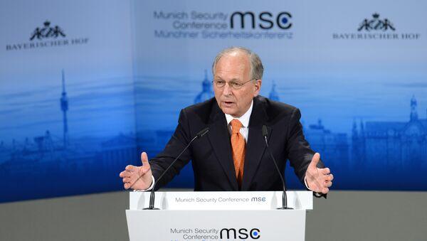 Predsedavajući Minhenske konferencije o bezbednosti Volfgang Išinger govori na otvaranju 51. konferencije. - Sputnik Srbija
