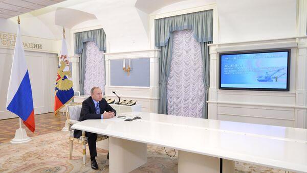 Vladimir Putin tokom otvavranja kapije Arktika - Sputnik Srbija