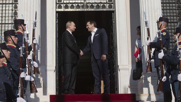 Sastanak ruskog predsednika Vladimira Putina sa grčikim premijerom Aleksisom Ciprasem - Sputnik Srbija