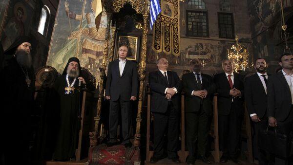 Руски председник Владимир Путин на Светој Гори - Sputnik Србија