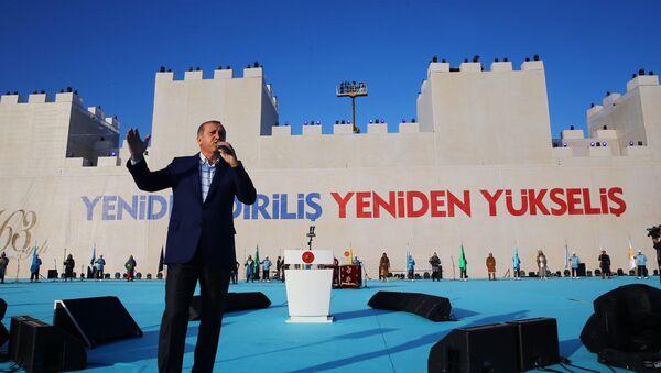 Председник Турске Реџеп Тајип Ердоган говори на обележавању 563. годишњице пада Византије и освајања Цариграда - Sputnik Србија