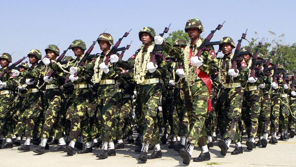 Војници Мјанмара на обележавању Дана војске - Sputnik Србија