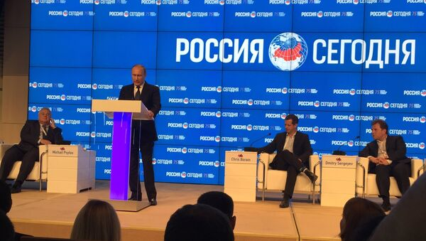 Vladimir Putin u MIA Rusija sevodnja - Sputnik Srbija