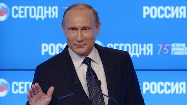 Владимир Путин у посети Агенцији МИА Русија севодња - Sputnik Србија