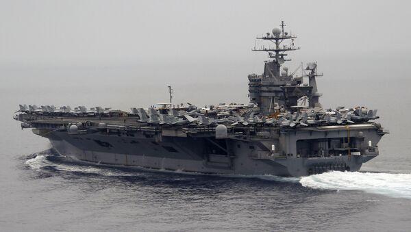 Nuklearni američki nosač aviona Hari Truman u Sredozemnom moru - Sputnik Srbija