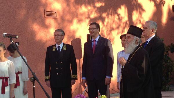 Ambasador Rusije Aleksandar Vučić primio je u goste Aleksandra Vučića, predsednika Srbije Tomislava Nikolića i patrijarha Irineja - Sputnik Srbija