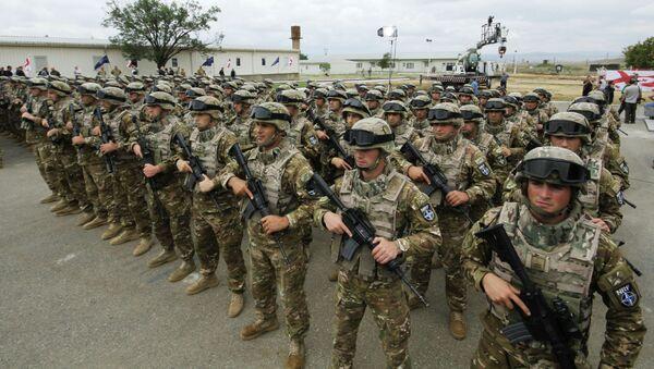 Војска Грузије на отварању заједничког НАТО центра за обуку у Грузији - Sputnik Србија