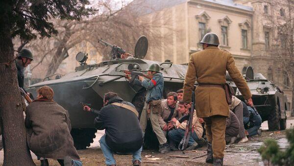 Antikomunističke demonstracije u Rumuniji 1989. protiv N. Čaušeskua - Sputnik Srbija