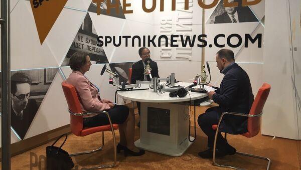 Шеф руске редакције агенције Синхуа Фан Вејго у студију Спутњика - Sputnik Србија