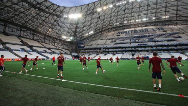 Руски фудбалери на тренингу у Марсеју, Француска - Sputnik Србија