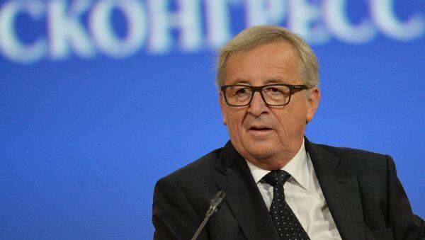 Председник Европске комисије Жан-Клод Јункер на свечаном отварању Петербуршког међународног економског форума - Sputnik Србија