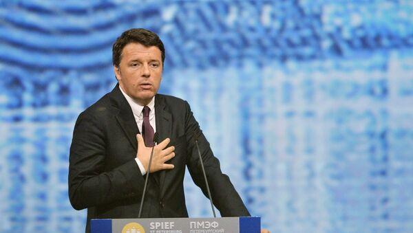 Italijanski premijer Mateo Renci  na Međunarodnom ekonomskom forumu u Sankt Petrburgu - Sputnik Srbija