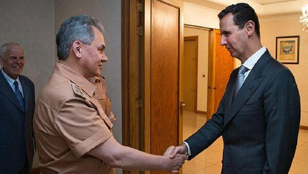 Sergej Šojgu i Bašar Asad - Sputnik Srbija