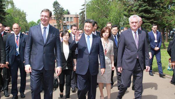 Кинески председник у посети Железари Смедерево - Sputnik Србија