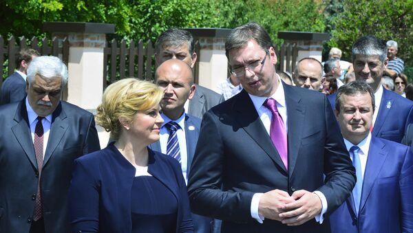 Kolinda Grabar Kitarović i Aleksandar Vučić - Sputnik Srbija