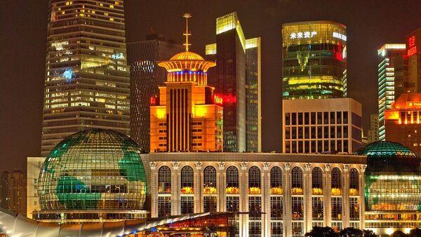 Поглед на нови део Шангаја, Кина  - Sputnik Србија
