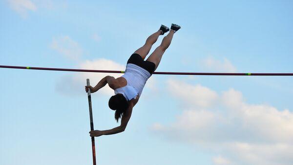 Dvostruka Olimpijska pobednicu u diciplini skok sa motkom Jelena Isinbajeva - Sputnik Srbija