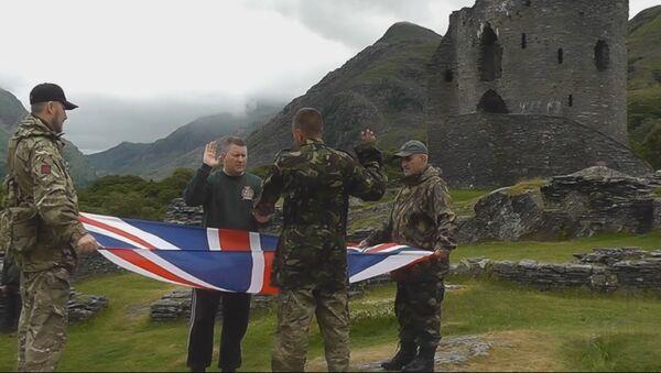 Чланови покрета Прво Британија током тренинга у кампу у Велсу - Sputnik Србија