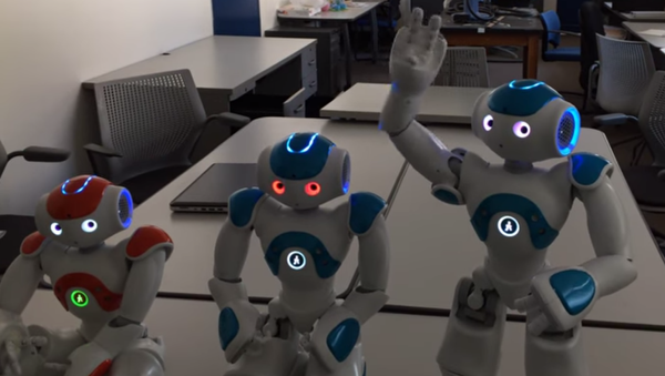 Tri robota na Ranseler politehničkom institutu u Njujorku - Sputnik Srbija