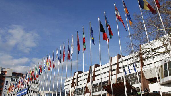 Заставе европских земаља испред зграде Савета Европе у Стразбуру - Sputnik Србија