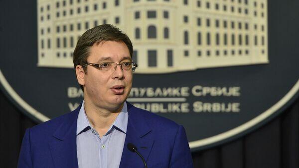 Aleksandar Vučić na konferenciji za novinare posle bregzita - Sputnik Srbija