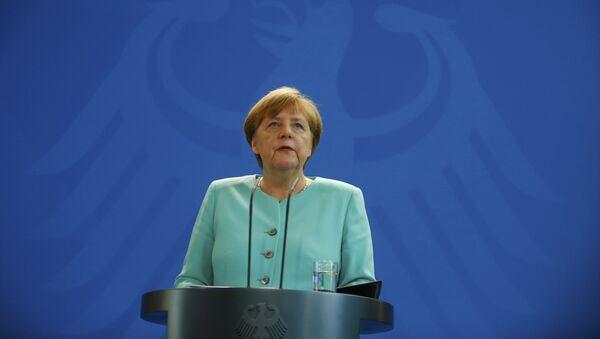 Kancelarka Nemačke Angela Merkel na konferenciji za novinare posle bregzita - Sputnik Srbija