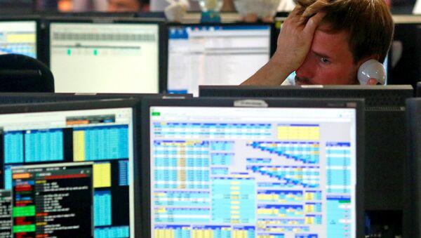 Reakcija radnika britanske brokerske kompanije na stanje na Evropskoj berzi dan nakon referenduma o izlasku Velike Britanije iz EU - Sputnik Srbija