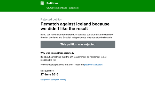 Petition to Replay England's European Football Championship Match Against Iceland. - Sputnik Србија