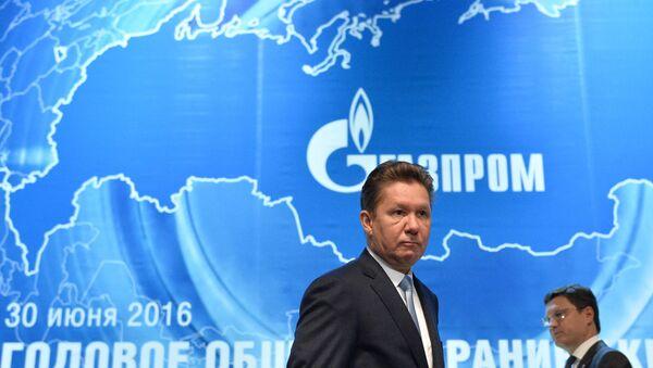Директор Гаспрома Алексеј Милер и министар енергетике Русије Александар Новак пре почетка годишње скупштине акционара компаније Гаспром - Sputnik Србија