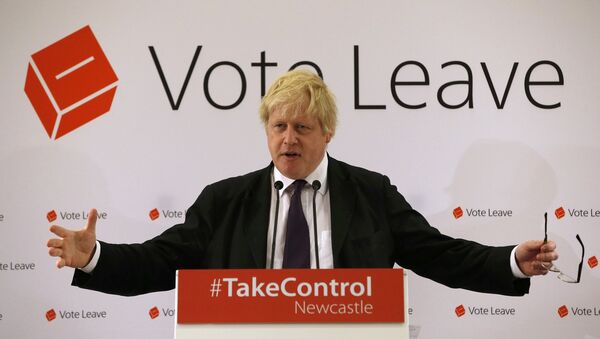 Bivši londonski gradonačelnik Boris Džonson i kandidat za budućeg premijera Velike Britanije - Sputnik Srbija