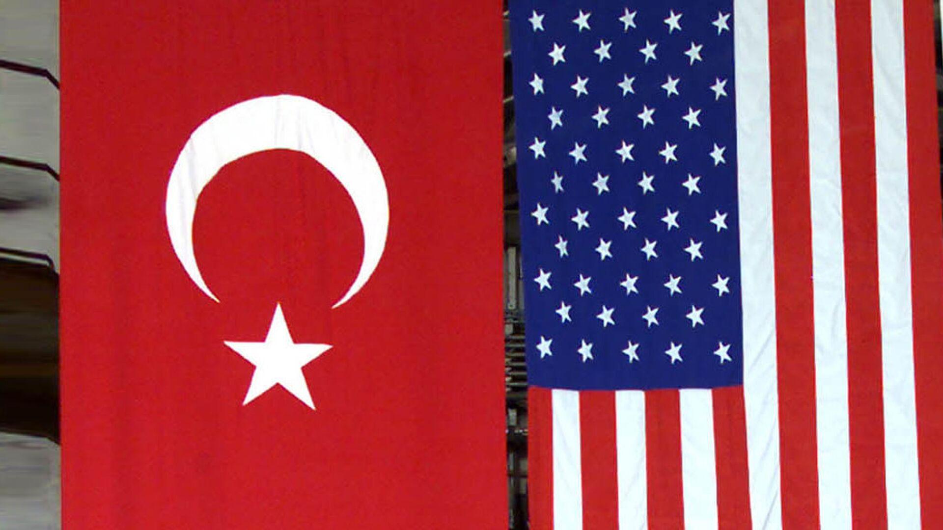 Američka i Turska zastava - Sputnik Srbija, 1920, 01.10.2021