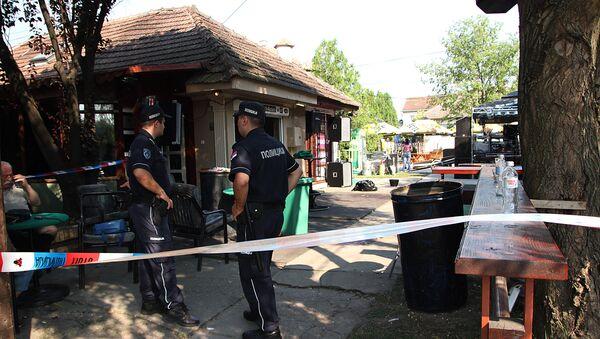 Полицијски увиђај у кафићу Макијато у Житишту где је убијено пет а рањено 20 особа. - Sputnik Србија
