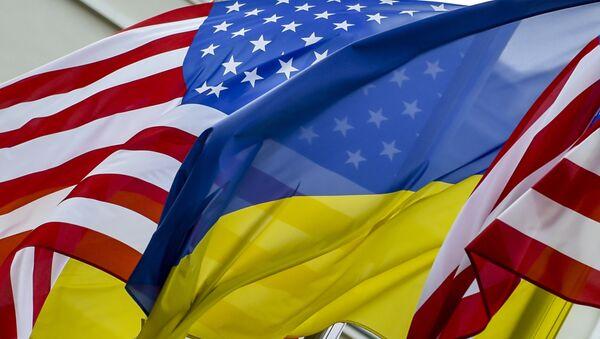 Zastave SAD i Ukrajine - Sputnik Srbija