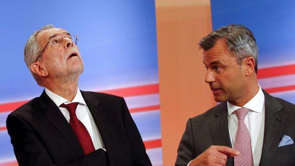 Austrijski kandidati za predsednika Aleksandar van der Belen (L) i Norbert Hofer - Sputnik Srbija
