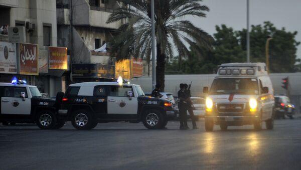 Saudijska policija na uviđaju posle samoubilačkog bombaškog napada - Sputnik Srbija