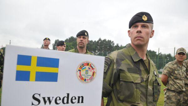 Шведски војници на војним вежбама НАТО-а у Украјини - Sputnik Србија