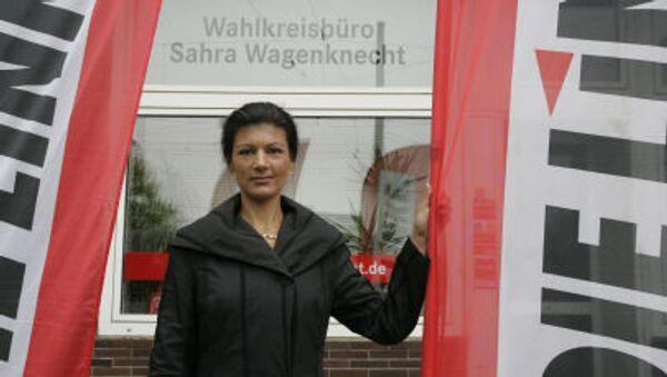 Посланица Бундестага Сара Вагенкнехт - Sputnik Србија