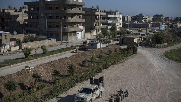 Asirske snage samoodbrane Sotoro u gradu Kamišli u sirijskoj provinciji Hasake - Sputnik Srbija