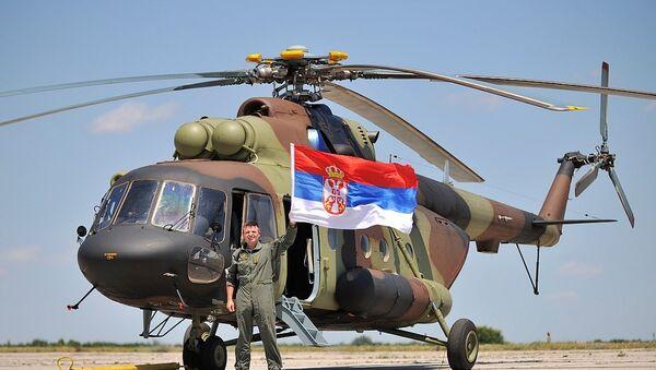 Ruski helikopteri sleteli na aerodrom Batajnica. - Sputnik Srbija
